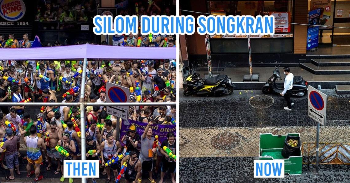 silom during songkran