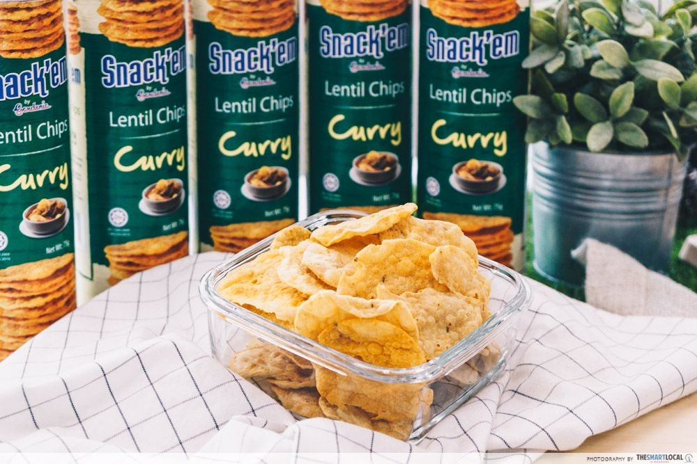 Gardenia Snack'em Lentil Chips Curry