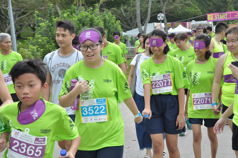 Blindfold Run during the Run For Inclusion