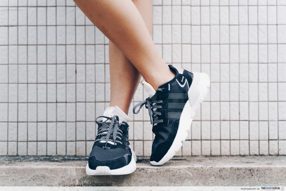 black adidas nite jogger