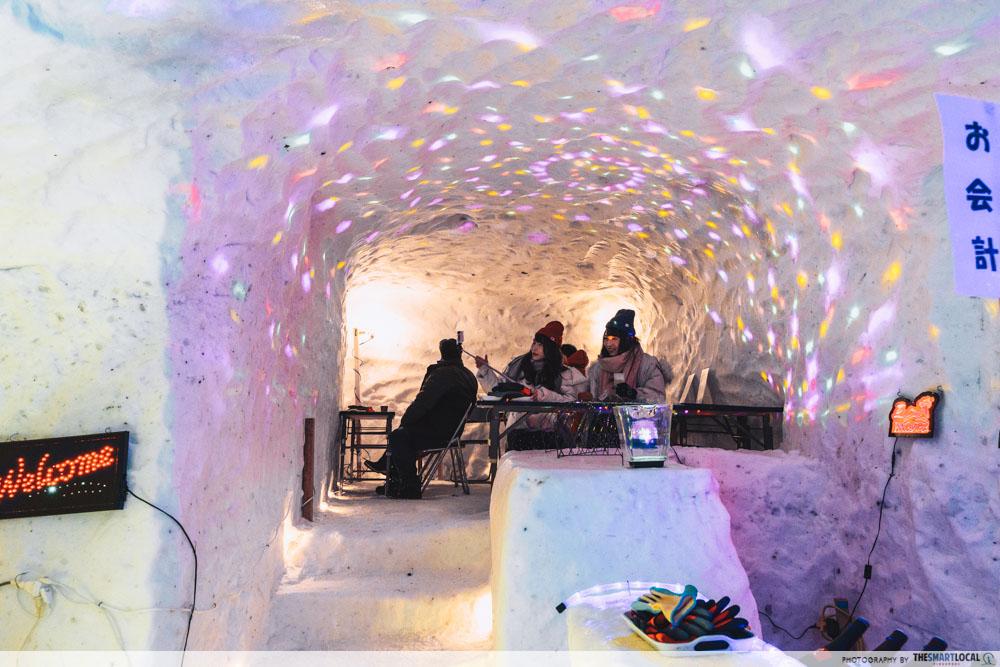 towada winter festival igloo bar