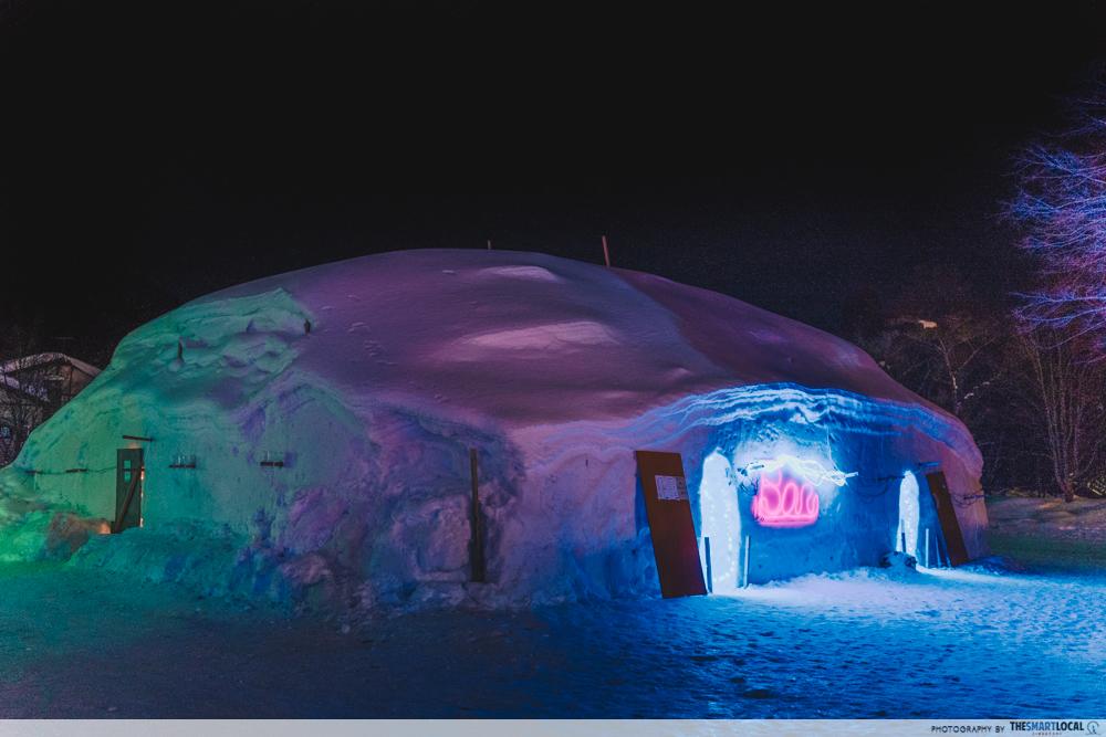 towada winter festival kamakura igloo bar