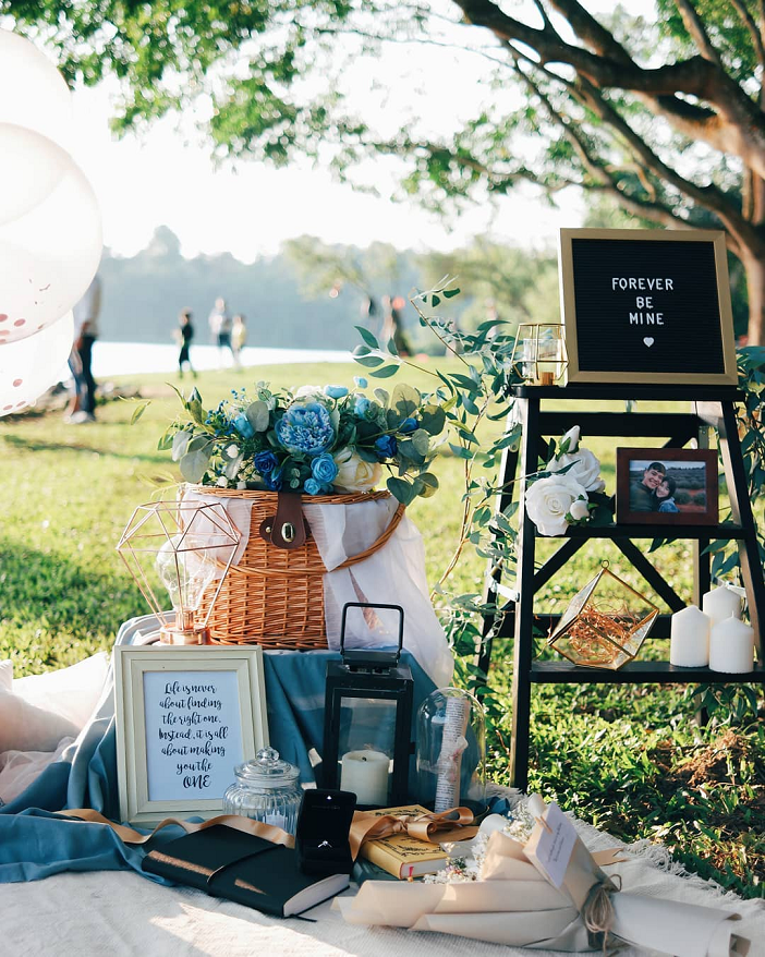 themed proposal setup idea planning service engagement years & co picnic setup
