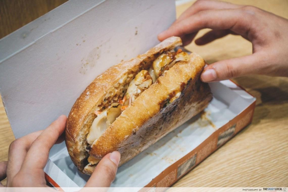 Gyoza hotdog Dotonbori Osaka