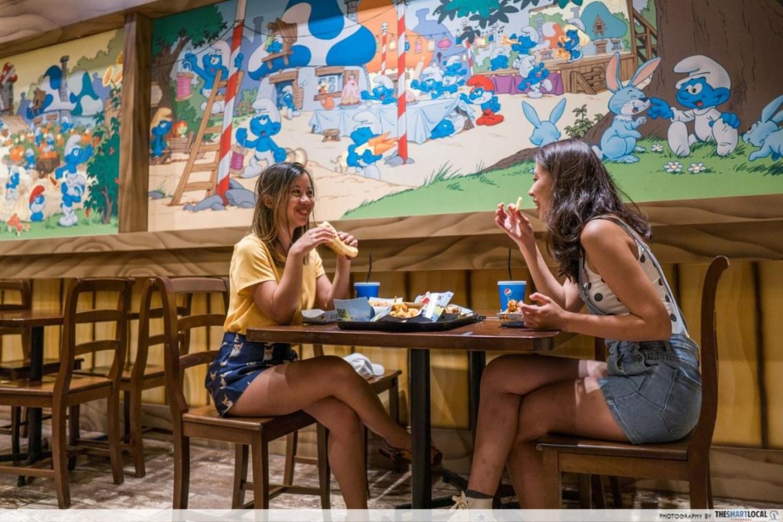 smurf village very smurfy cafe mural