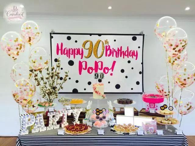 flower dessert table party
