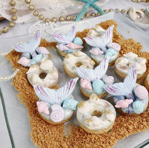 mermaid dessert doughnuts donuts