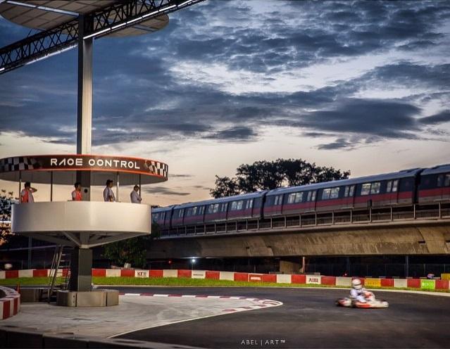 go kart track next to MRT