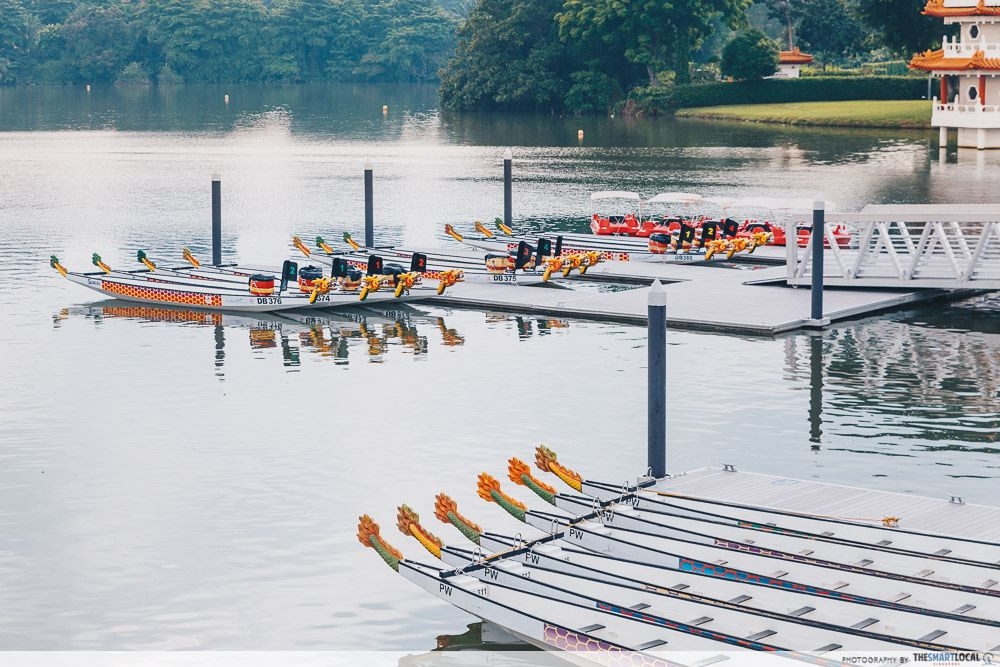 Kayaking and dragon boating Jurong Lake Gardens