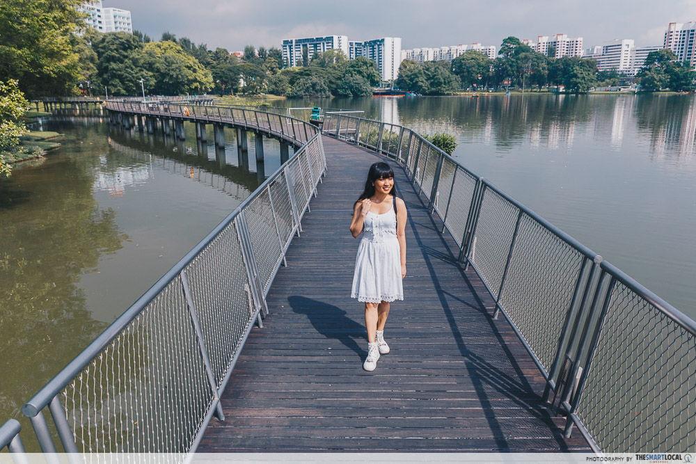 Jurong Lake boardwalk Lakeside Garden