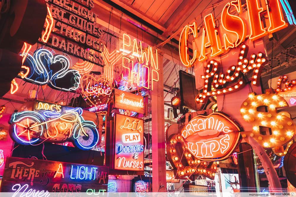 God's Own Junkyard - neon lights