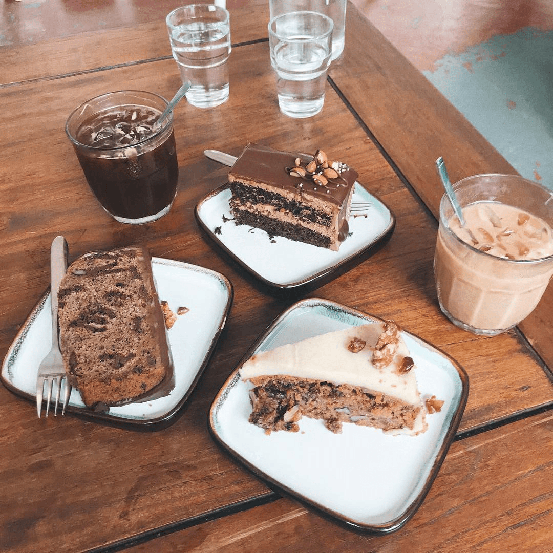 Selection of cakes at RGB Cafe