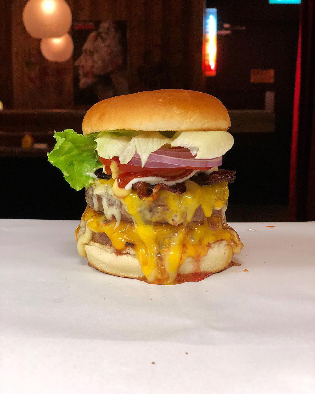 Double cheeseburger at Burget Joint Singapore