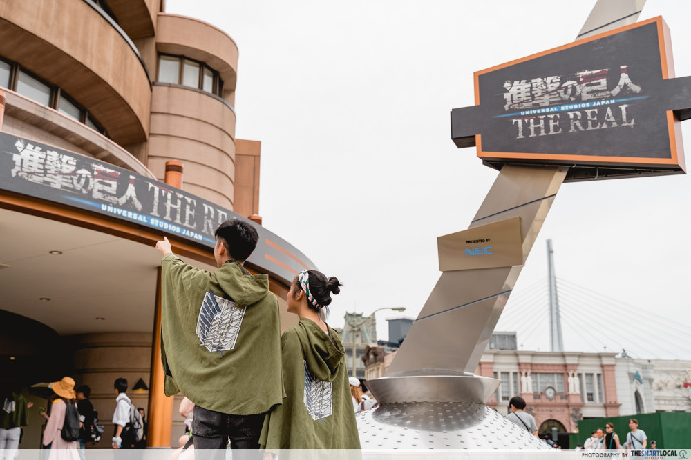 universal studios japan 2019 attack on titan the real show