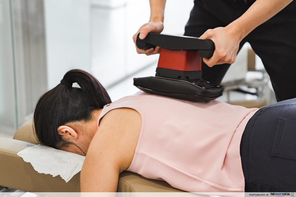 Macquarie Chiropractic Clinic Singapore Spinal Adjustment Jeanie Rub Massager