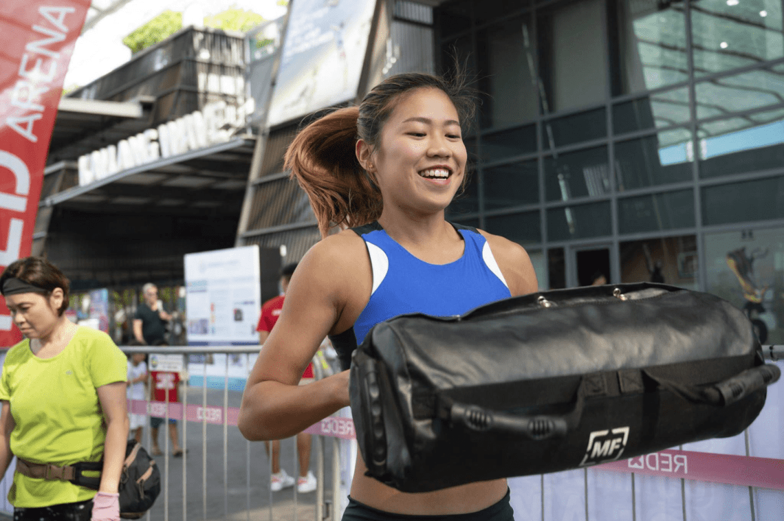Singapore Sports Hub Summer Sports Jam Red-X Challenge Obstacle Course