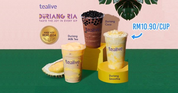 Tealive Has Durian Milk Tea Made With Real D24 Flesh & M'sians Are Here For It