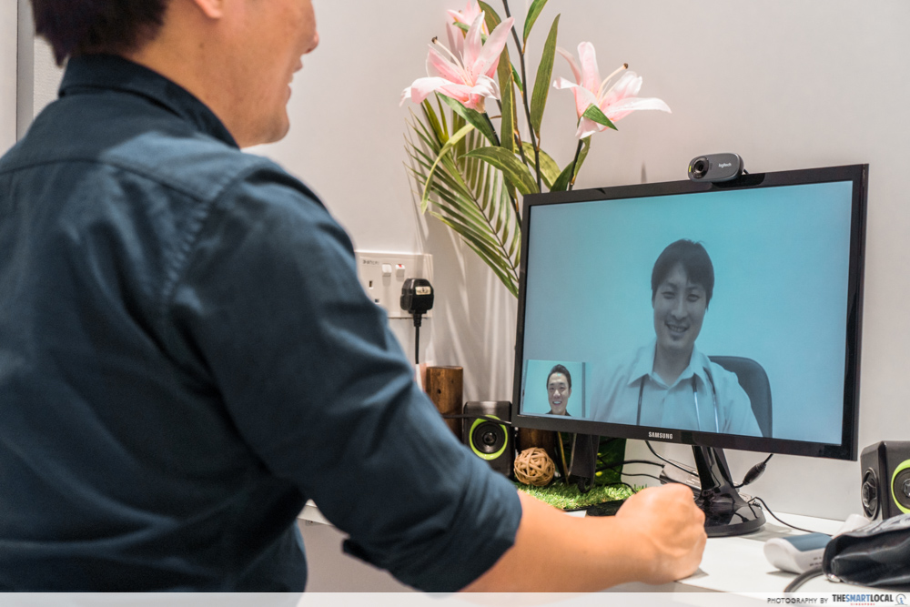 FairPrice Xtra and Unity VivoCity - video consultation with doctor