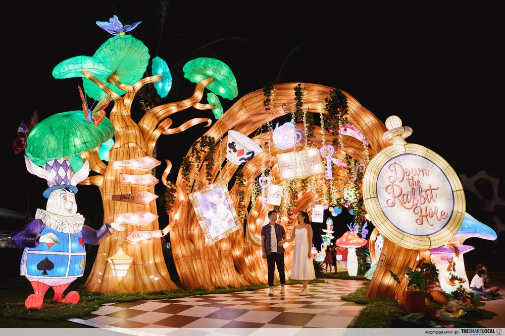VivoCity Mid-Autumn 2019 Light-Up Alice in Wonderland Down Rabbit Hole