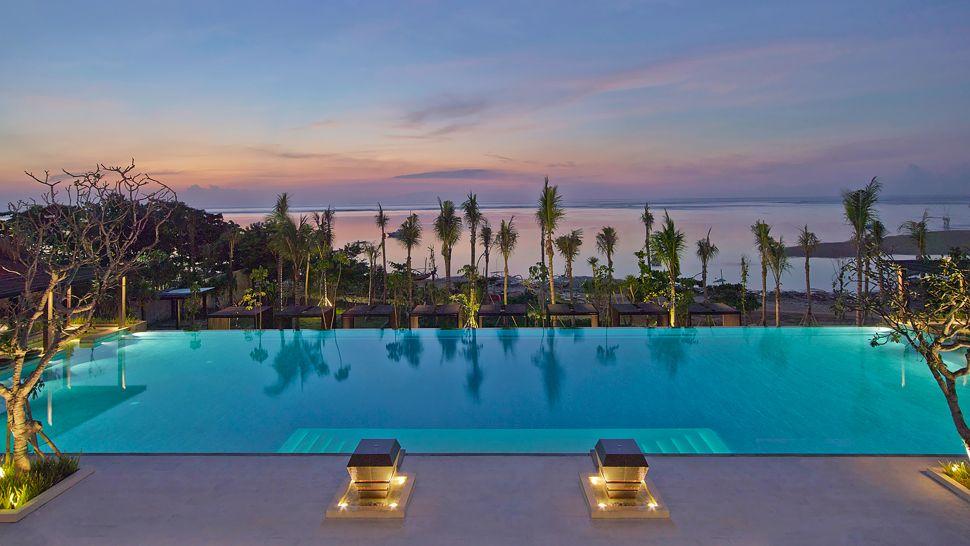 bali luxury hotels - fairmont sanur beach bali infinity pool