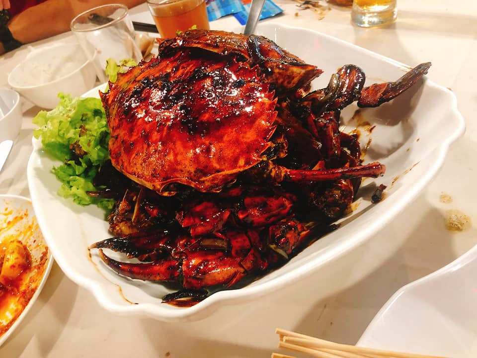 danga bay in jb - black pepper crab at grand bayview seafood restaurant