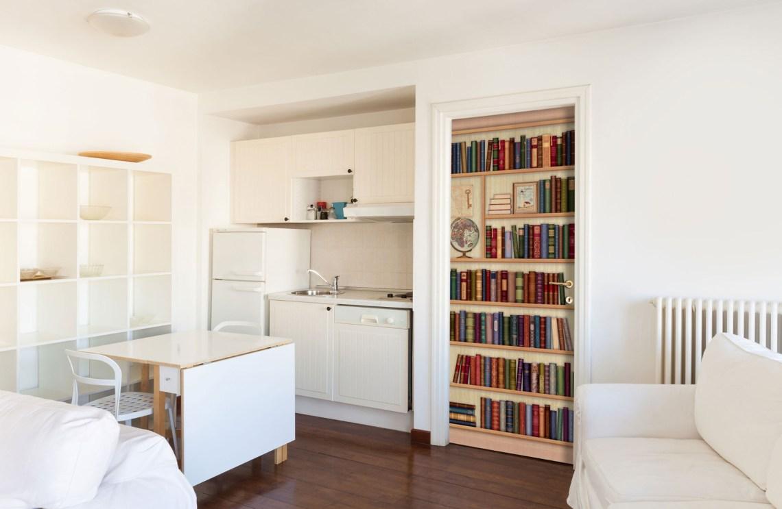 bookshelf door decal