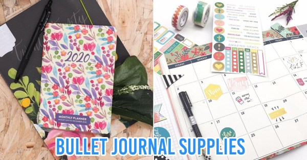 7 Stationery Shops In Singapore For Pinterest-Worthy Bullet Journal & Scrapbooking Supplies
