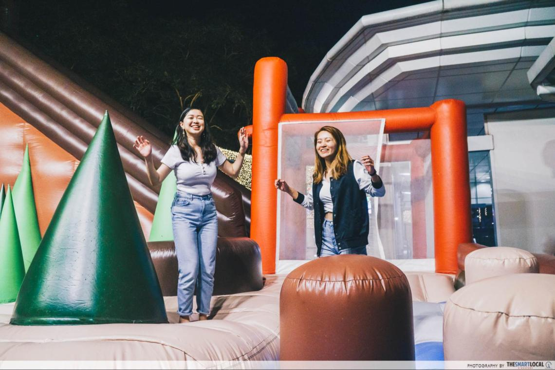 City Square Mall Christmas 2019 We Bare Bears Inflatable Bounce House