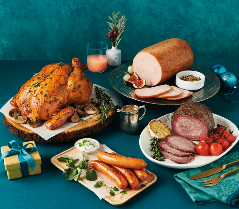 Christmas feast from cold storage