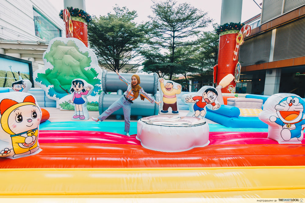 doraemon pop-up at amk hub and jurong point - inflatable play land