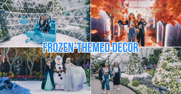 Jewel Changi Is Now A Frozen-Themed Wonderland With Light Shows & Snow From Now Till 5 Jan