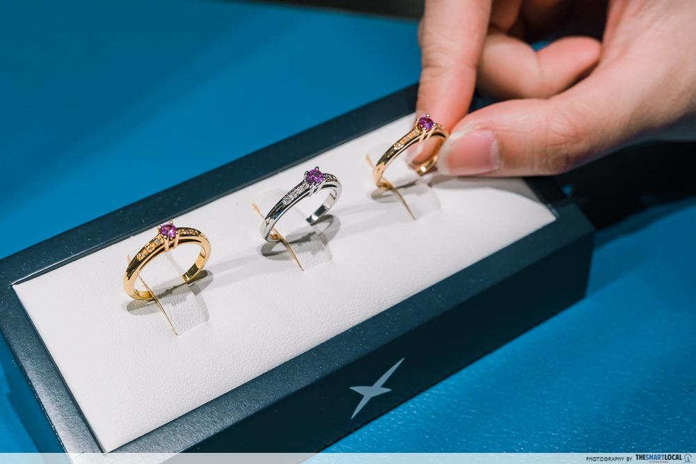 mauboussin sale - bonjour les amoureux ring collection featuring pink sapphire gem