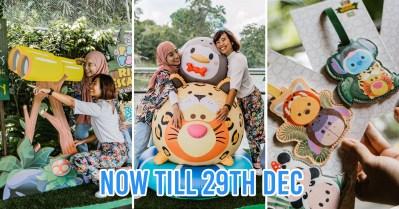 river safari disney tsum tsum - collage of photo spots and bag tag