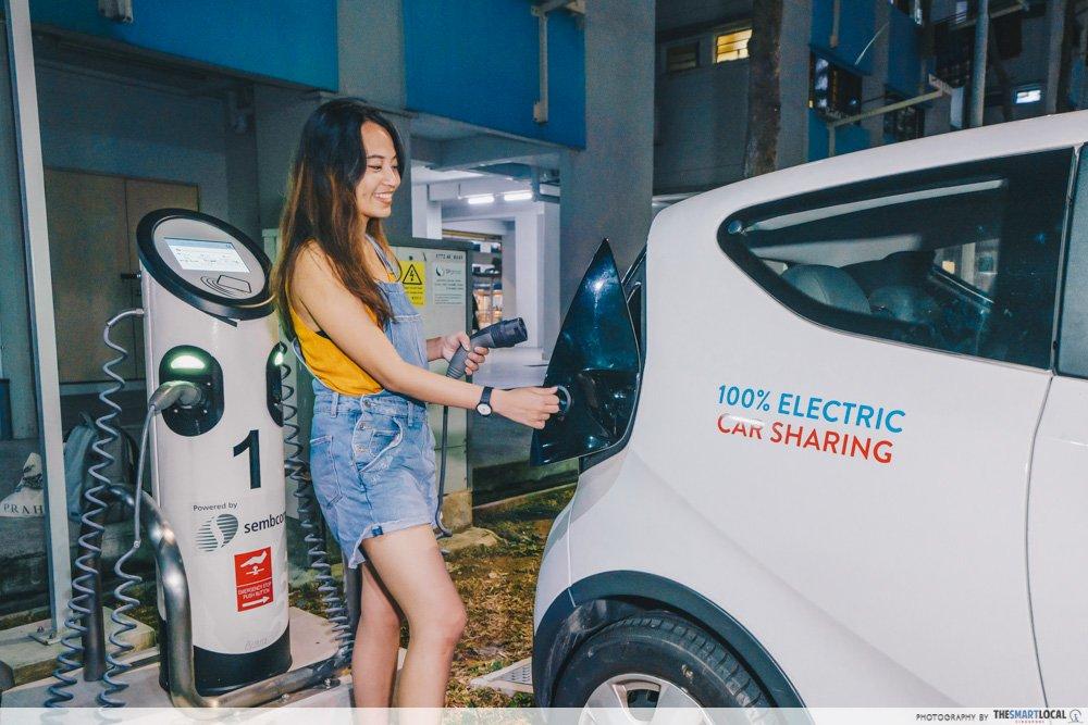 tengah estate - charging electric car
