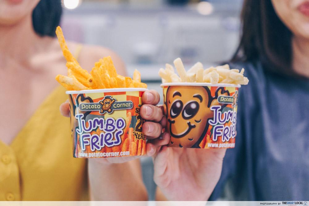 vivocity black friday sale 2019 - jumbo fries at potato corner
