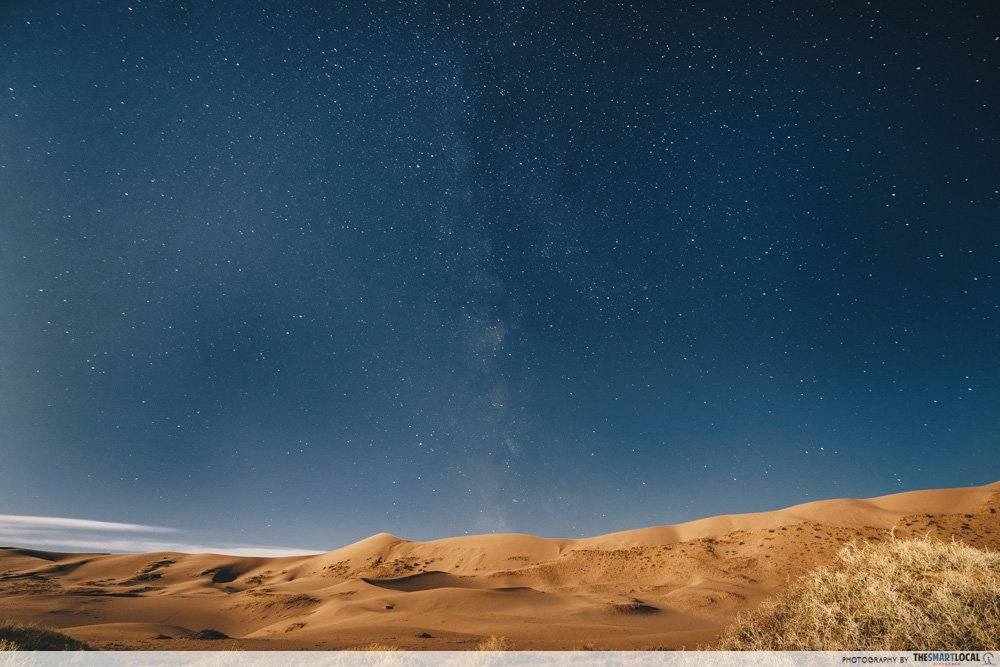 long weekend guide 2020 - hari raya haji and national day mongolia gobi desert milky way