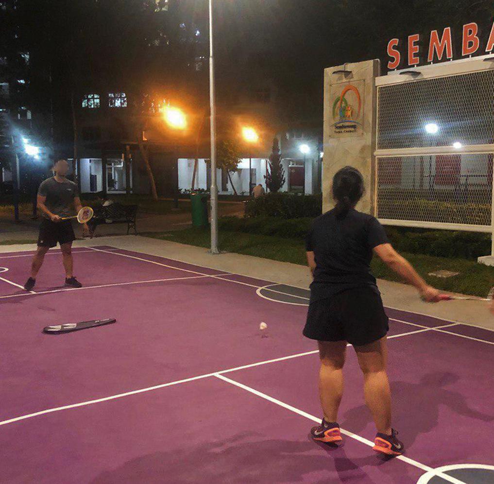 HPB exercise badminton
