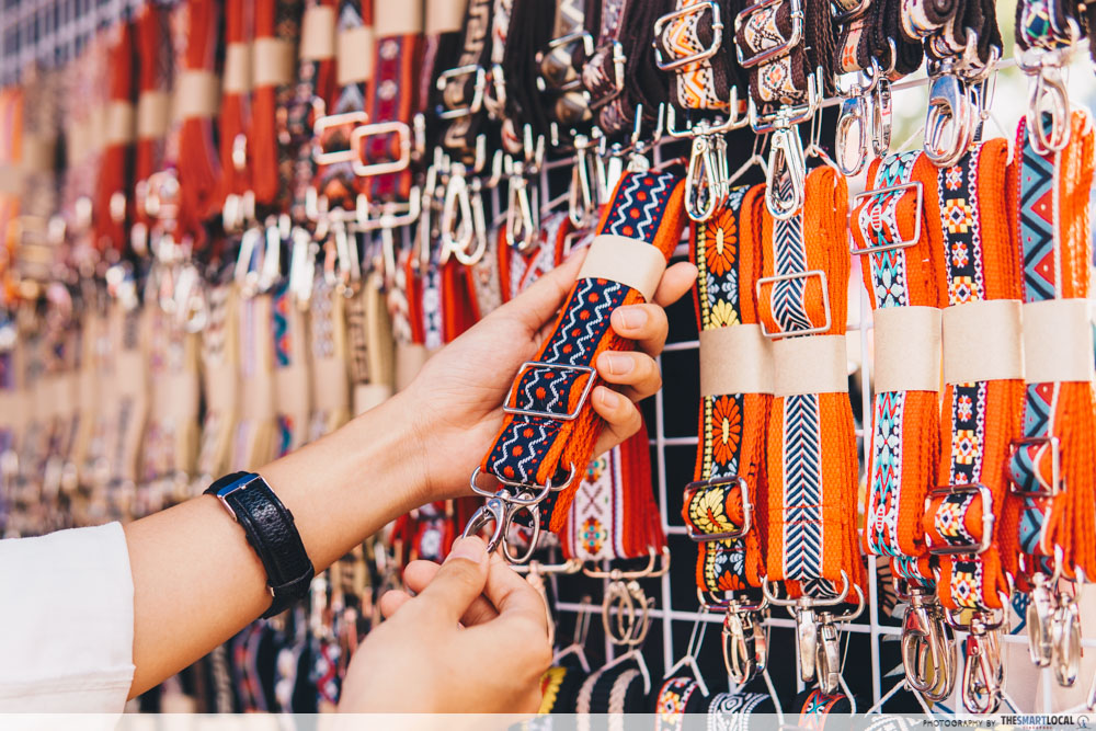 Tribal-patterned bags chatuchak