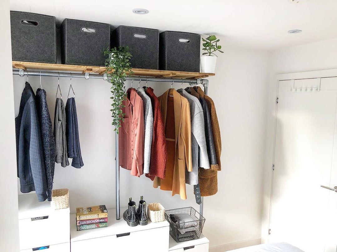 Open wardrobe is a simple household item to get for your BTO if you don't want to renovate your HDB.