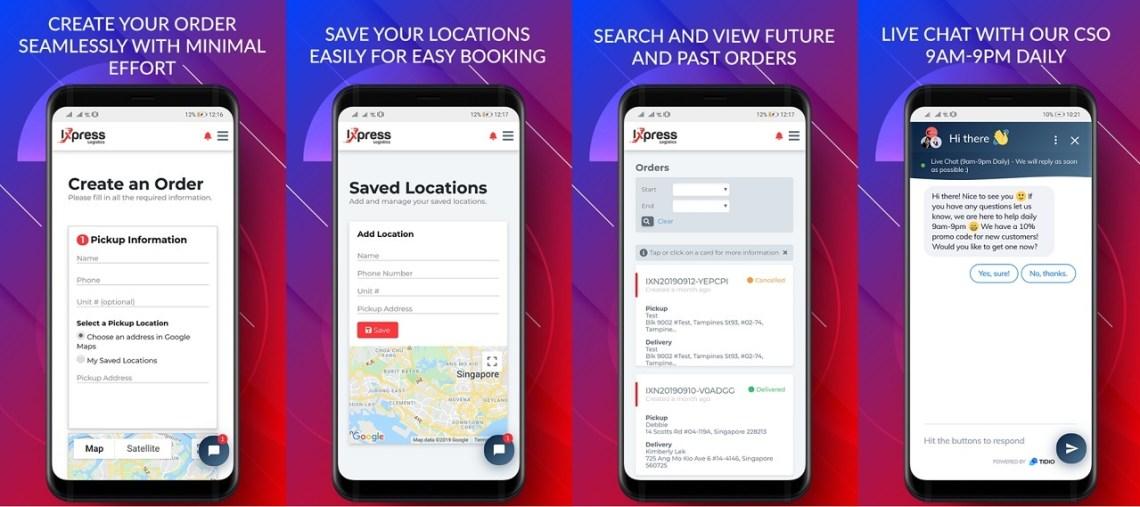 ixpress647 app screenshots