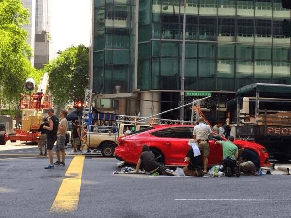 Filming at Robinson Road