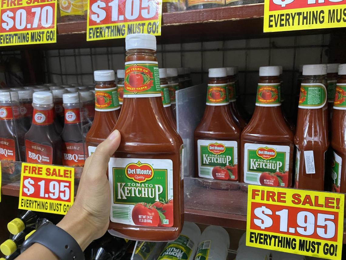 Del Monte ketchup at the value dollar store in Singapore