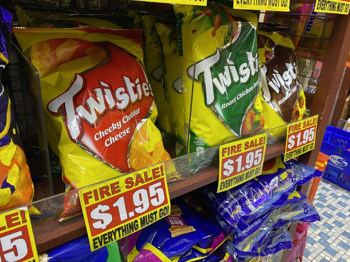 Twisties at the value dollar store in Singapore