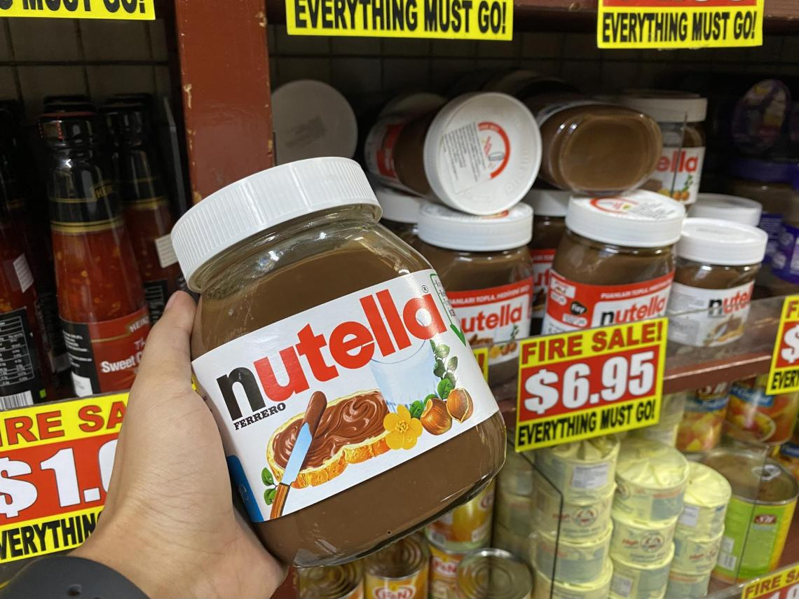 Nutella breakfast spread at the value dollar store in Singapore