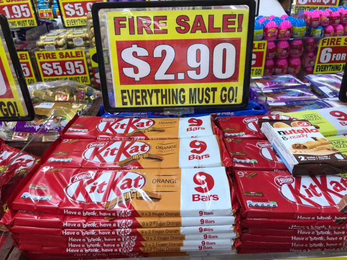 Orange Kit Kat at the Value Dollar store in Singapore.