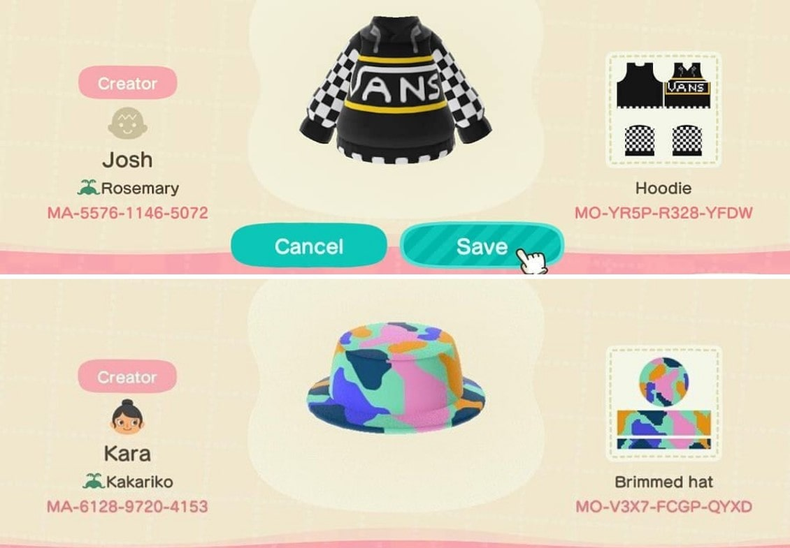 14 Animal Crossing Design Ids And Players To Follow For The Coolest Island Inspo Chic Clothes Thai Amulets Buddhism Forum