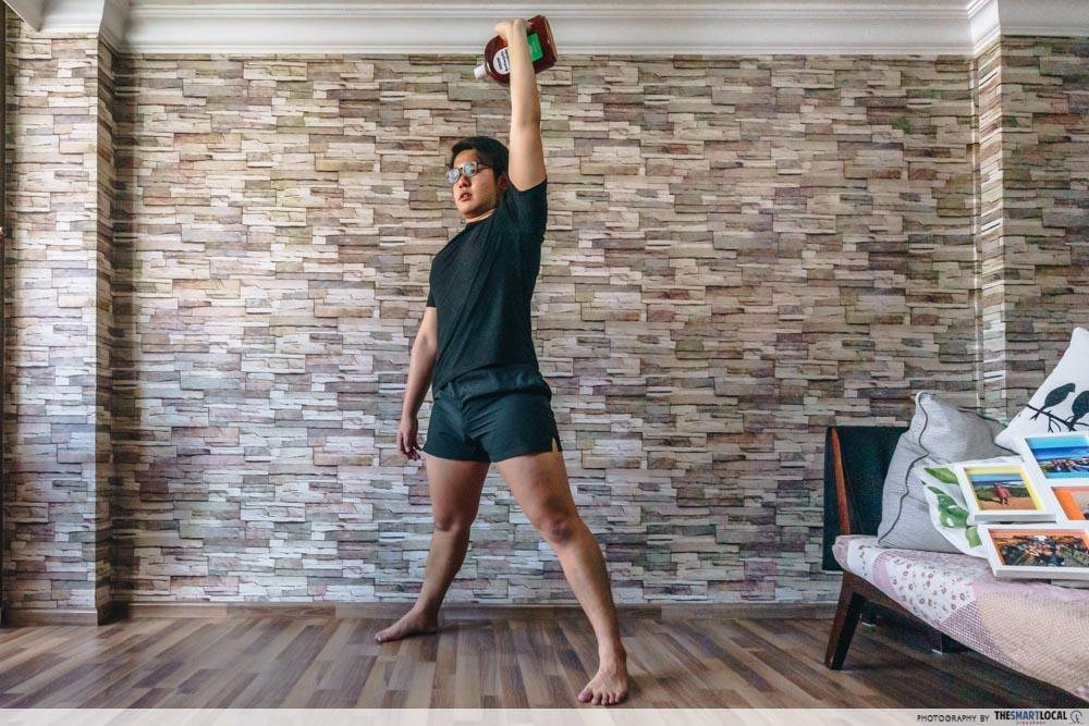 kettlebell - home workouts using household items