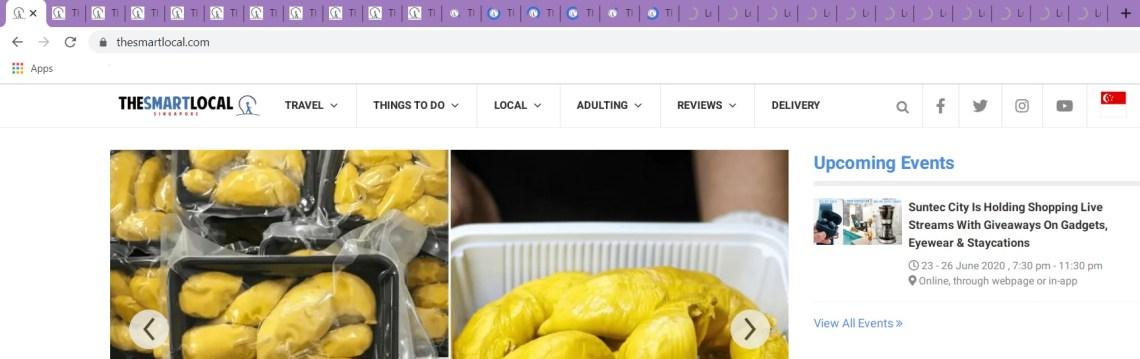 open tabs on Chrome