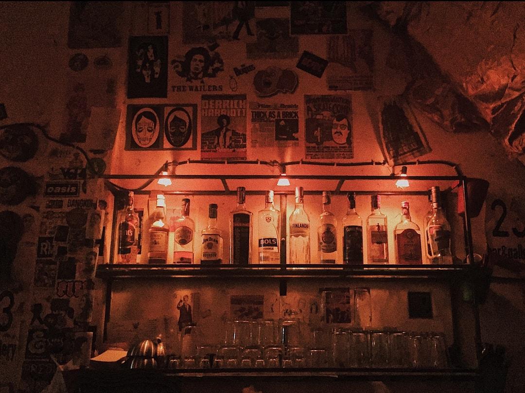 23 Bar and Gallery - cocktail bar shelf