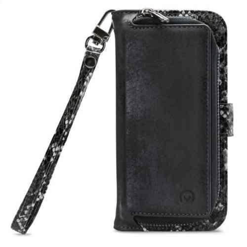 Mobilize 2in1 Magnet Zipper Case Apple iPhone 12 Mini Black/Snake